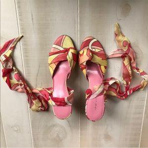 Nine West Wrap Around Colorful Heels
